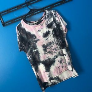 Tie-Dye Pink and Purple Top